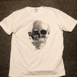 Zara Men's Skull Design T-shirt